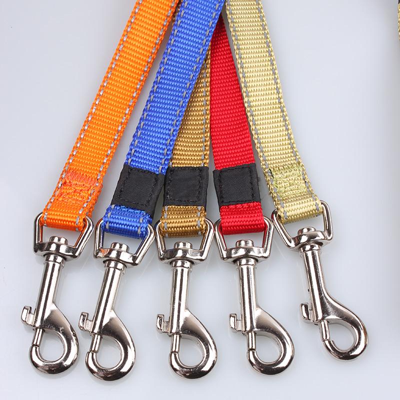 Reflective dog leash: Wholesale dog leash nylon ribbon reflect light-QQPETS