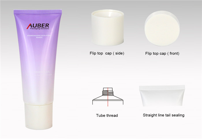 D40 Empty Squeeze Tube for Cleanser with High Screw On Cap