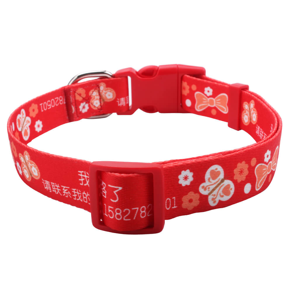 Red Pet Collar: Hot sell 2.5 size large pet collar supplies with name-qqpets