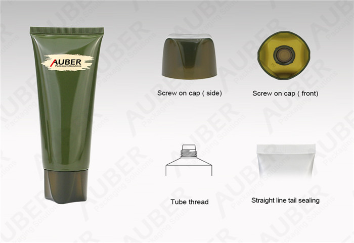 D40mm Green Massage Cream Packaging Tubes with Screw On Cap