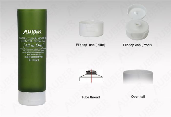D40mm Wholesale Lotion Squeeze Tubes with Flip Top Cap