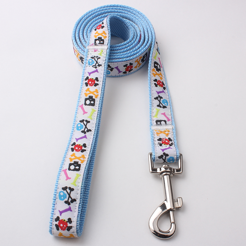 Durable Dog Leash: Nylon Jacquard Ribbon Dog Leash Supplies | qqpets
