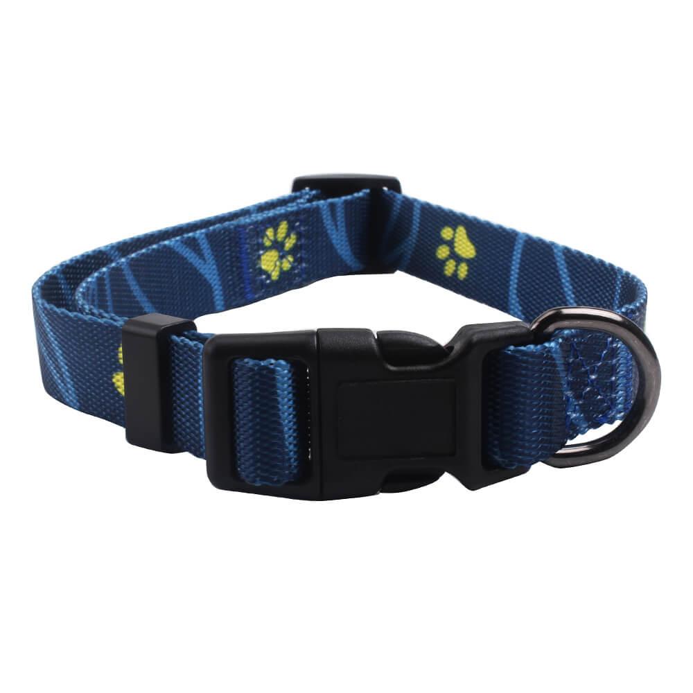 인쇄 개 목걸이 : 발 공급 -QQPETS와 뜨거운 판매 사용자 지정 작은 개 목걸이
