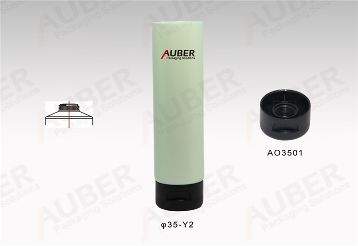 D35mm Eco Round Cosmetic Tubes with Flip Top Cap