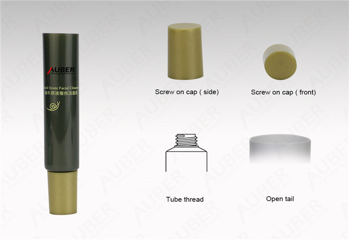 D19mm Cosmetic Tube Packaging for Facial Cleanser with Screw On Cap