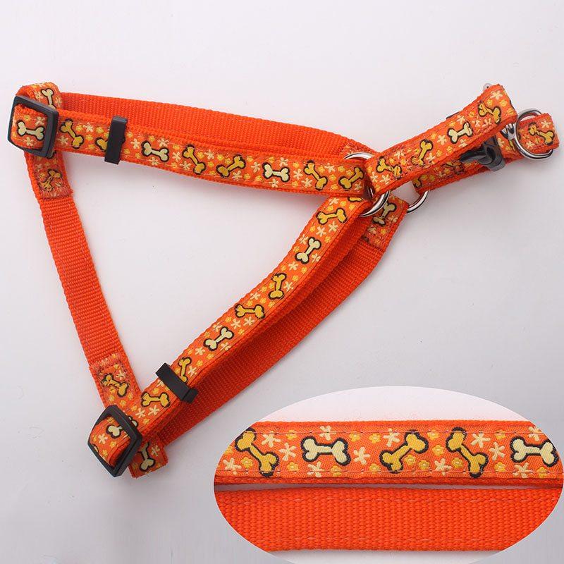 jacquard ribbon dog harness