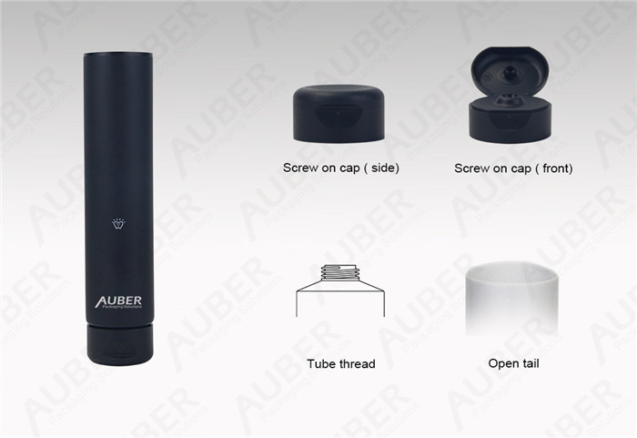Auber Auber D35mm Black Toothpaste Packaging Fatory with Flip Top Cap