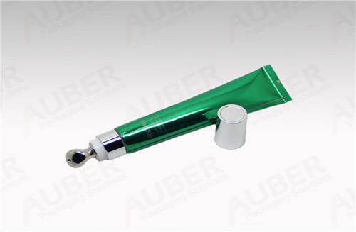 D19mm High Shiny Aluminum  Coating Laminated Tube with Zinc Alloy Massage applicator for Eye Essence