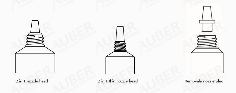 Auber nozzle gel tubes