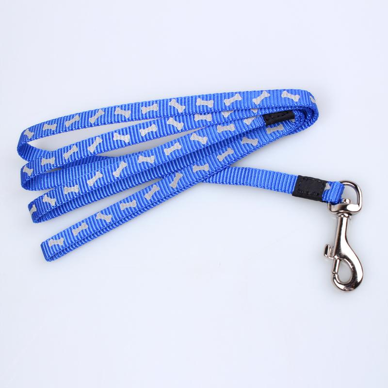 犬の鎖:カスタムロゴ付きナイロン犬の鎖卸売-QQpets
