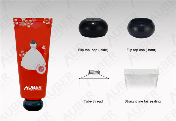 D35mm Plastic Tube Laminated Cosmetic Packaging with Screw on Cap