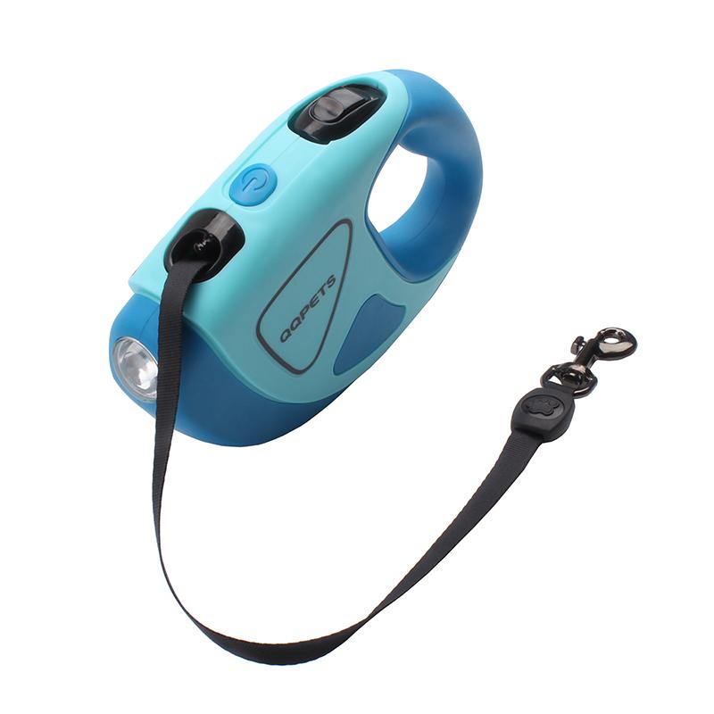 Wholesale colorful led retractable pet leash