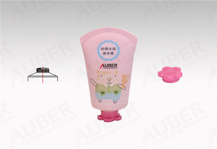 Auber Dia.35mm Round Tail Hand Cream Tubes with Flower Closure for Children Skincare Products