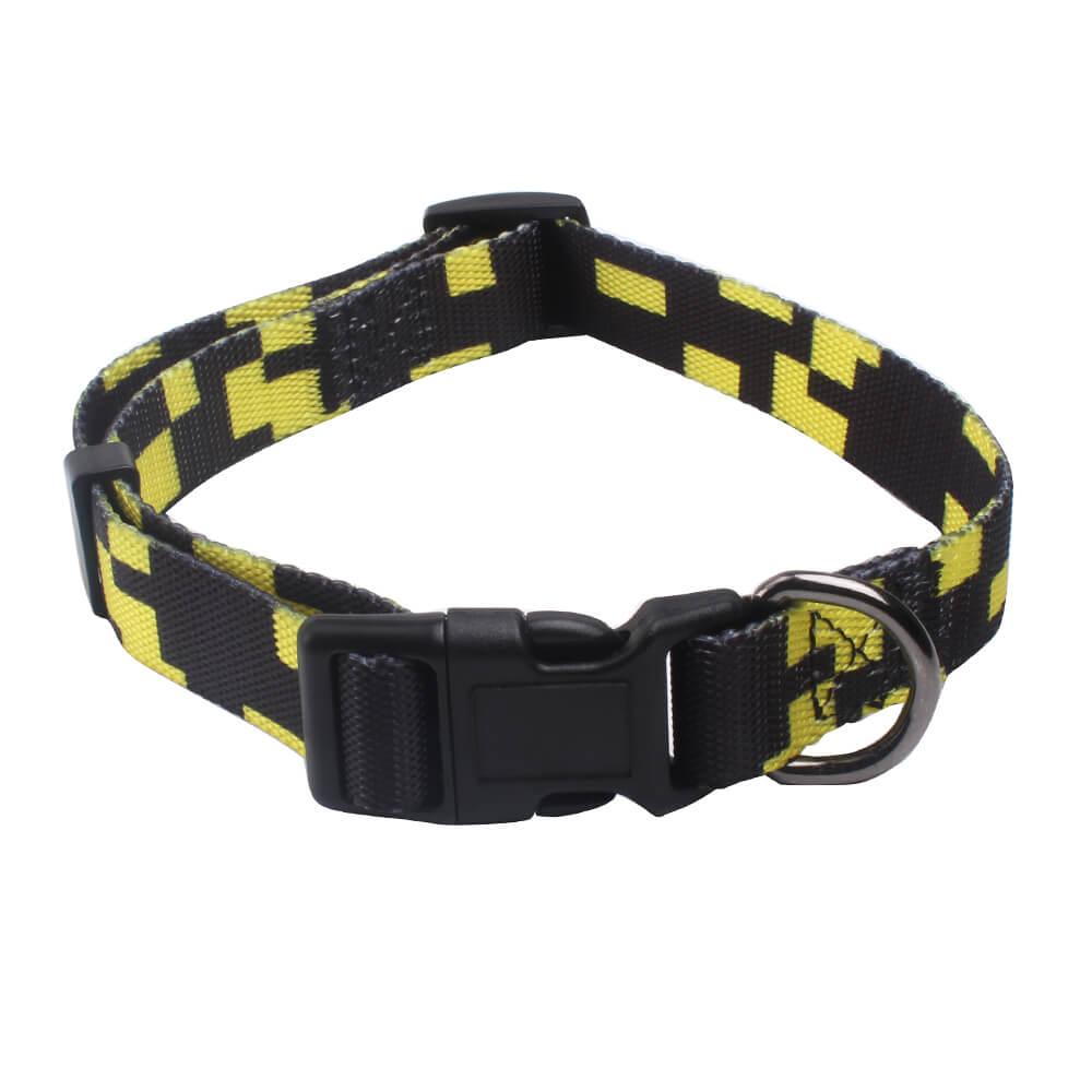 Adjustable dog collars: Wholesale custom logo dog collars glossy-QQPETS