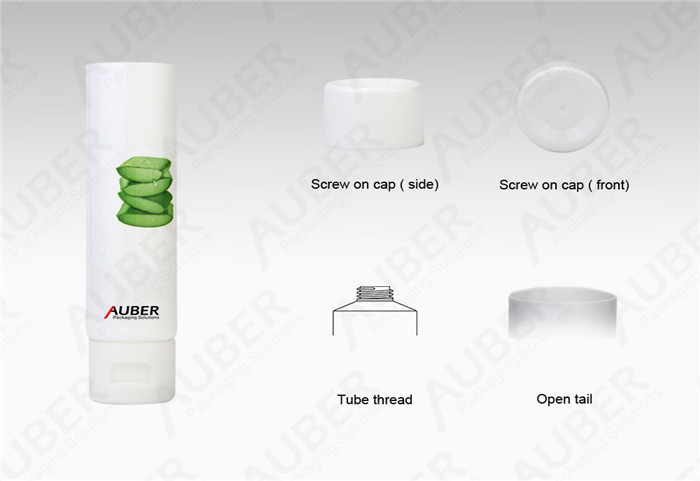 D30mm White Aloe Vera Gel Customized Cosmetic Packaging with Screw On Cap