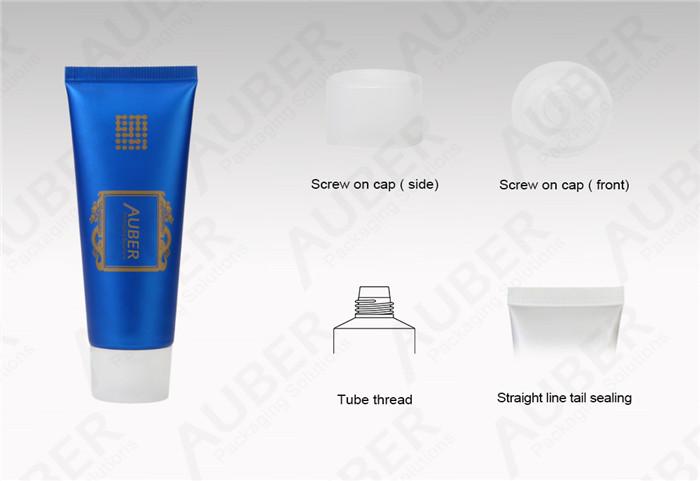 D30mm Men Facial Cleanser Aluminum Barrier Laminate Tubes With Screw On Cap