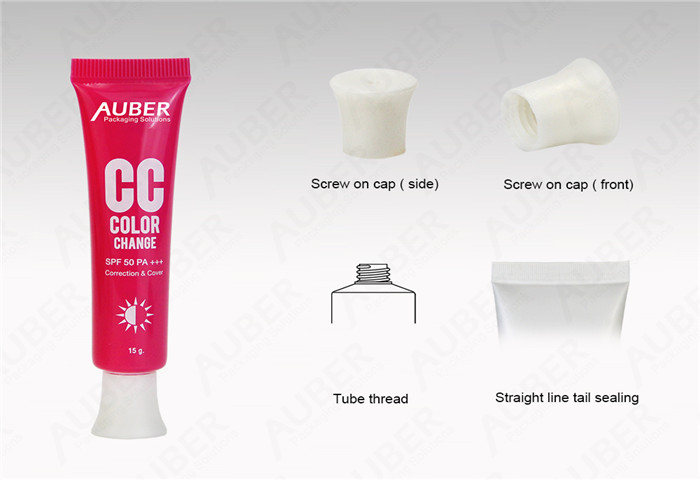 D19mm Plastic CC Cream Packaging Suppliers with Screw On Cap