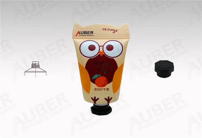 Auber Owl Design Plastic Squeeze Tube in D35mm with Octagonal Cap for Hand Cream