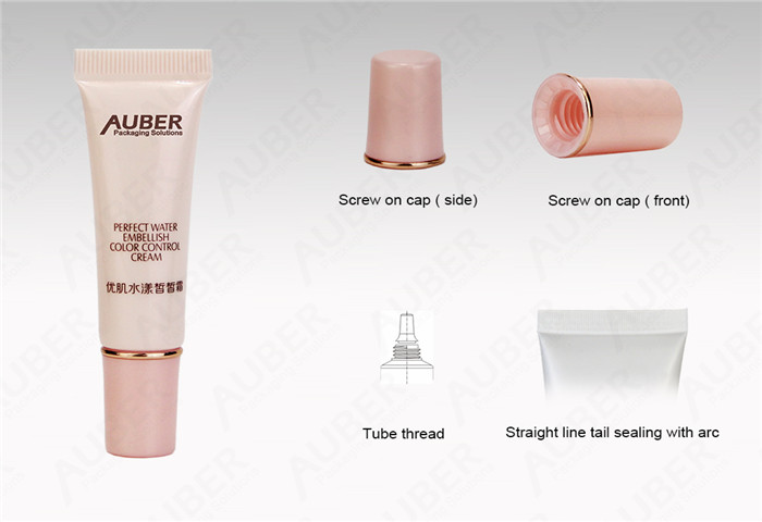 D19mm Pink Squeeze Tube Packaging with Nozzle Plug with Screw On Cap
