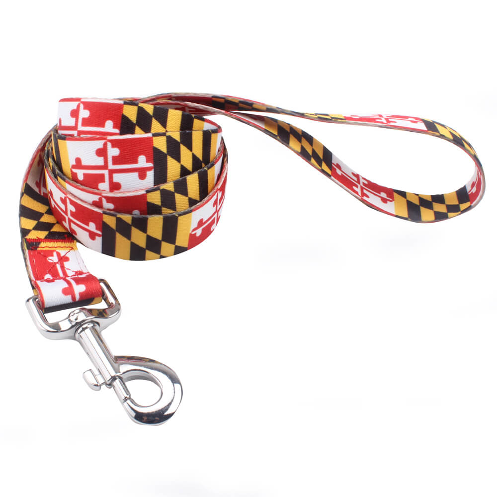 Printed Pet Leash: Polyester Long Pet Leash With Custom Logo Supply-QQpets