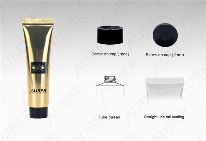 D19mm High Glossy Tube for Anyi-aging Essence with Black Screw On Cap