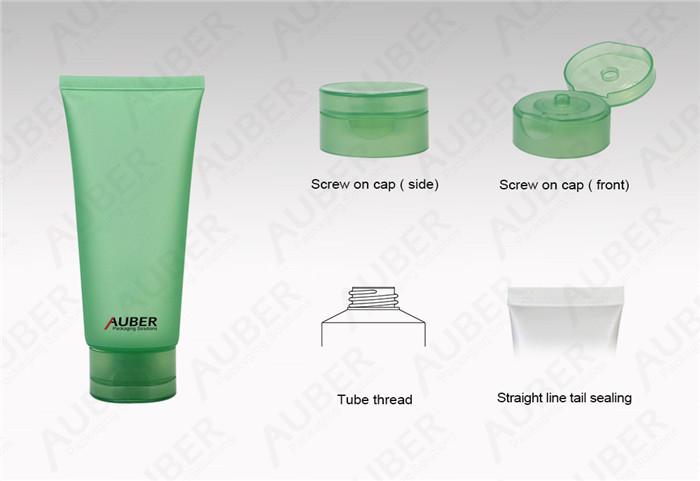 Green Translucent Cosmetic Plastic Tubes