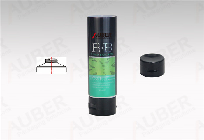 Auber D35mm BB Cream Tube with Bright Hot Stamping and Black Flip Top Cap