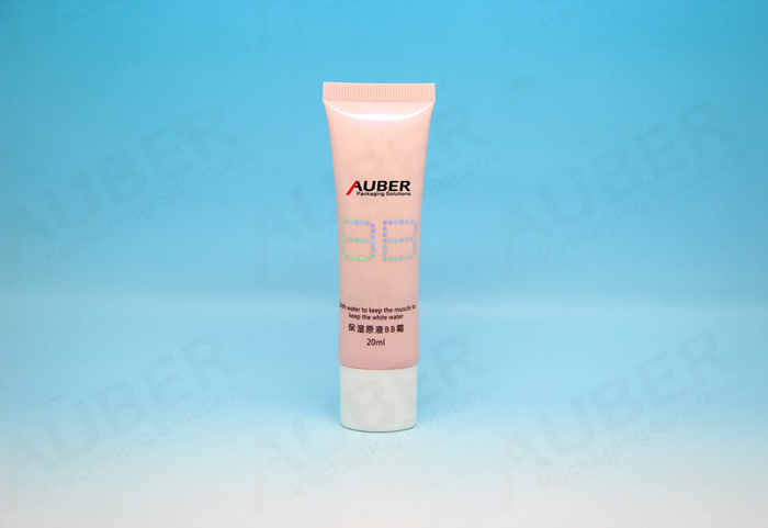 D25mm Rose Pink Oval Cosmetic Tube for BB Cream