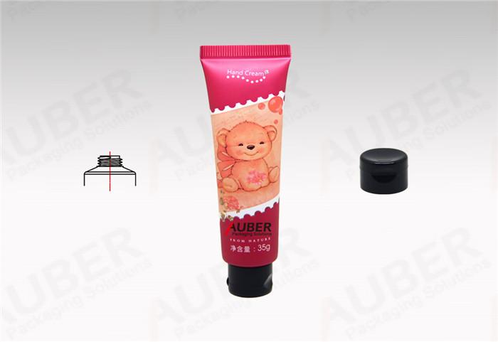 Auber Red Skincare Tube in Dia.25mm with Black Flip Top Cap