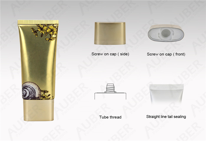 D35mm Flat High Glossy Aluminum Cosmetic Packaging Tube