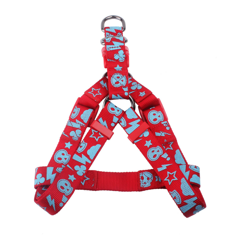 Custom Pet Harness: Large Size Nylon Silk Screen Printed Pet Harness Factory-qqpets
