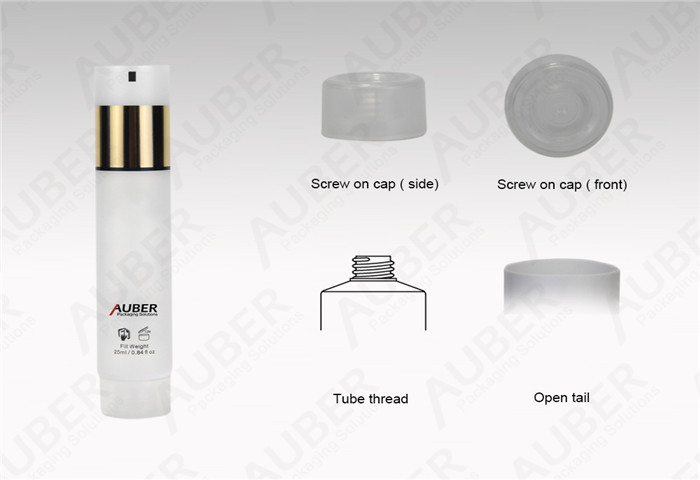 D22mm White Tubes for Cosmetic Hot Foil with Screw On Cap