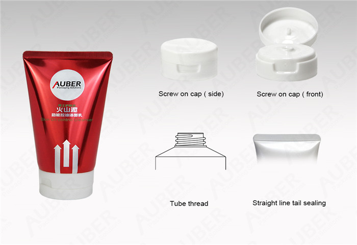D50mm Super Glossy Tube for Cleanser with Screw On Cap